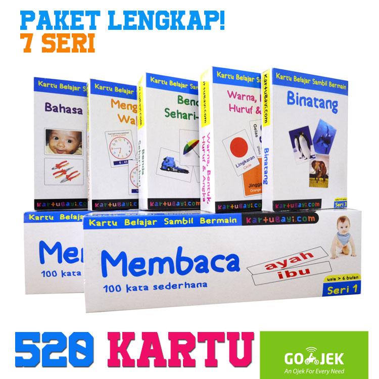 Paket Lengkap Kartu Bayi Flashcard 520 kartu